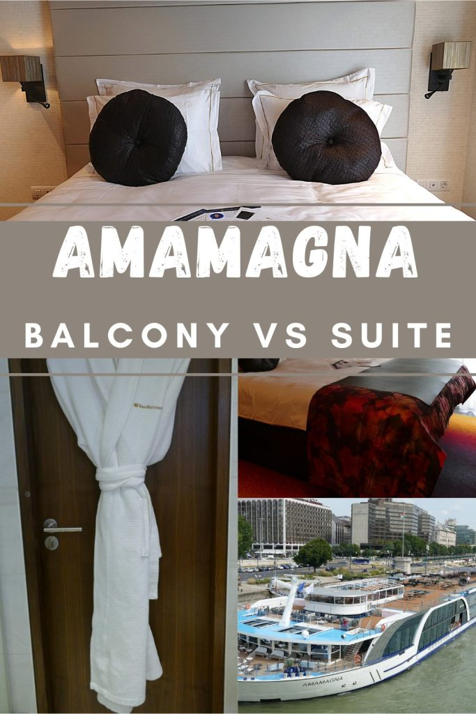 Which river cruise cabin should you choose? I compare an AmaMagna balcony cabin to a suite to help you decide on the right one for you.