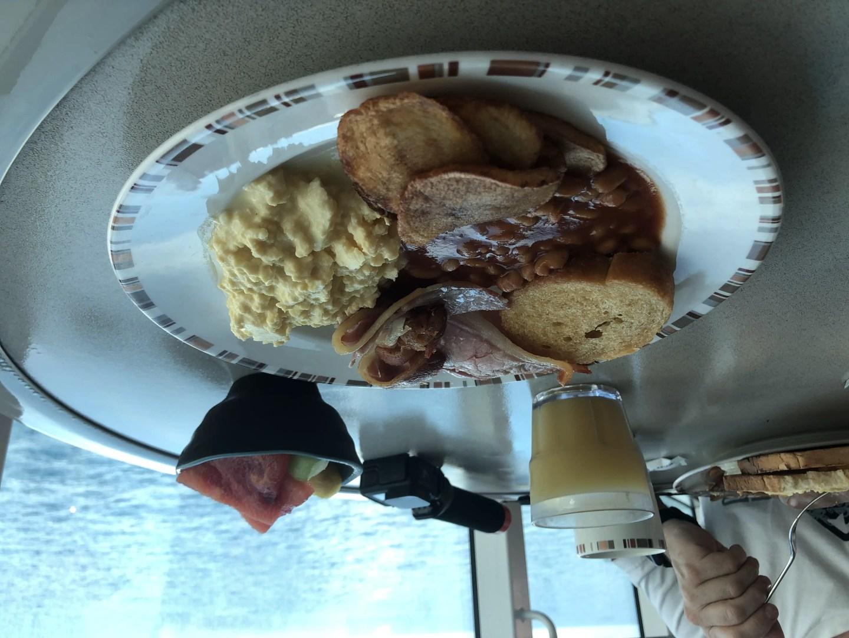 P&O Britannia buffet breakfast