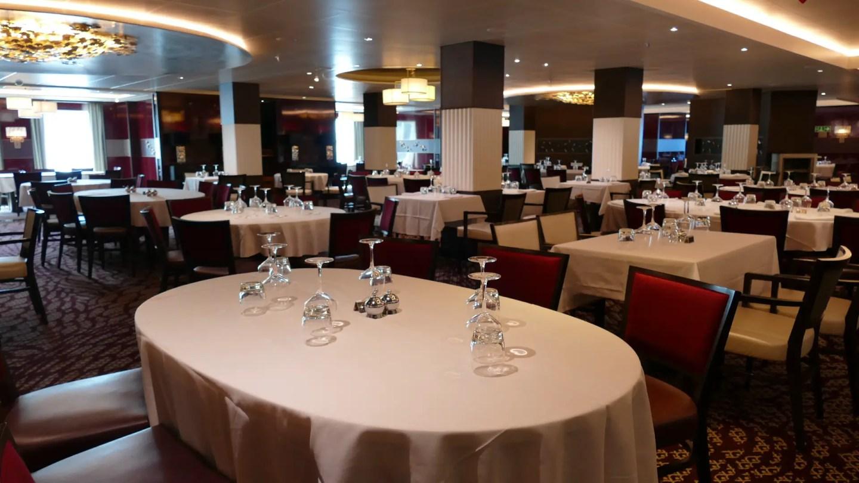Oriental restaurant on P&O Britannia