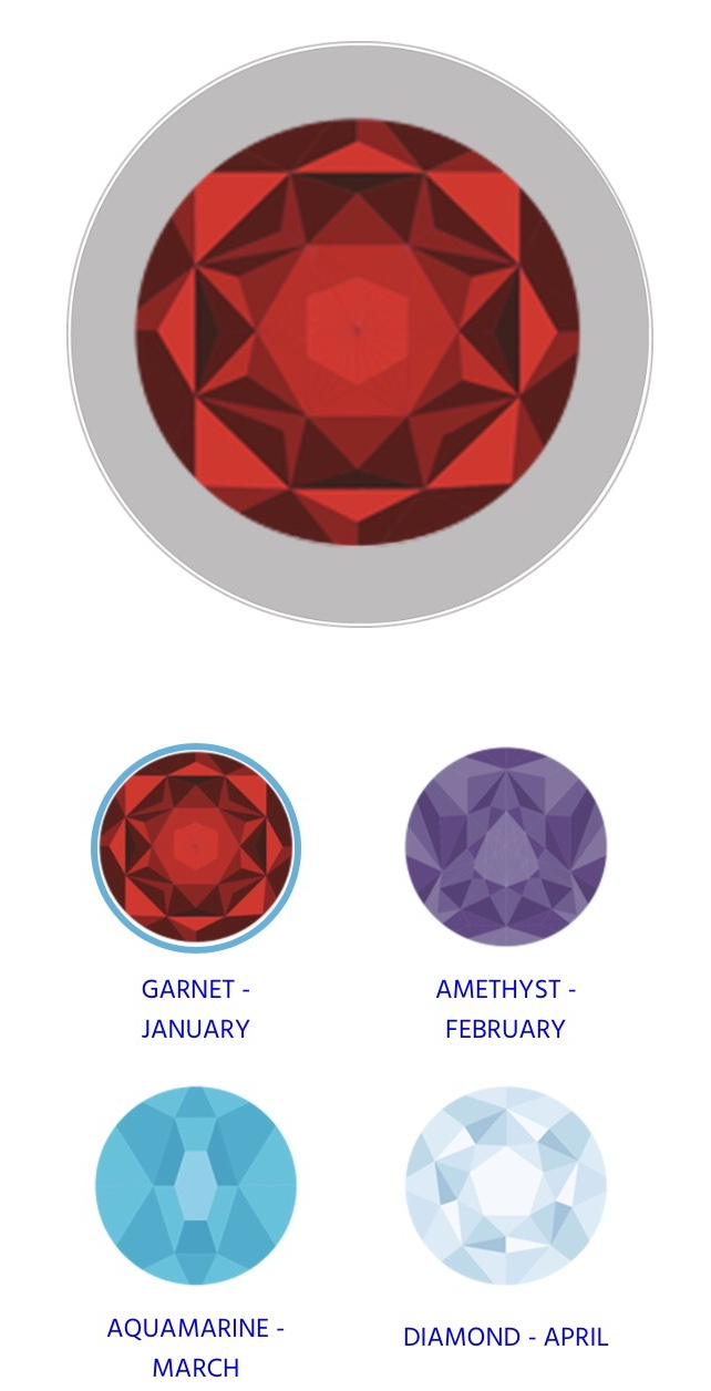 Personalise your OceanMedallion with your birthstone