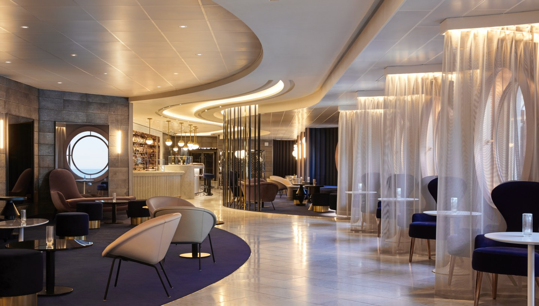 One of the main Virgin Voyages drinks venues is Sip