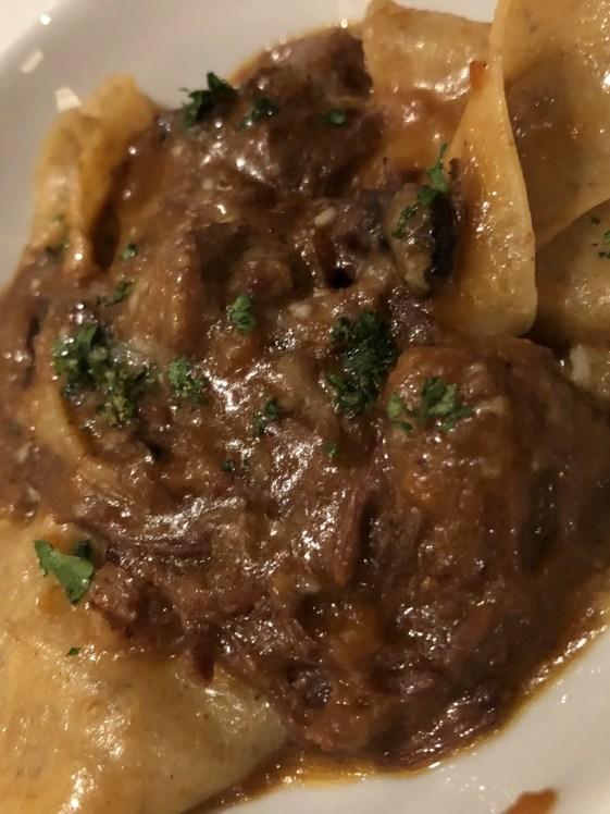 beef pappardelle Sabatinis Trattoria menu