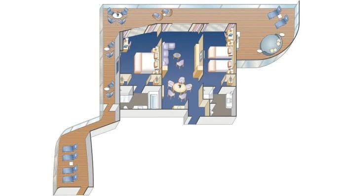 Pincess Cruises Sky Suite floor plan