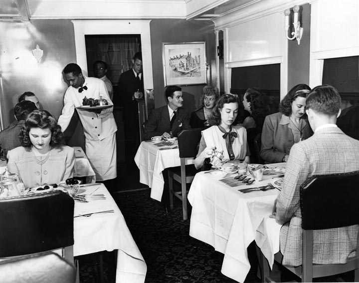 Image result for railway dining cars 1950s