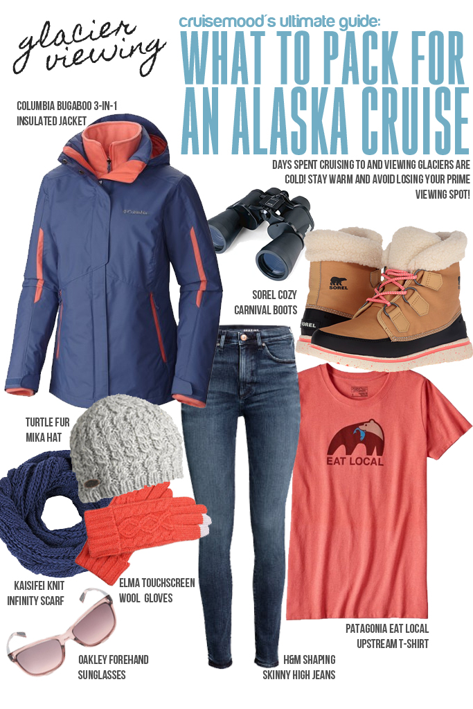 How to Pack for a Cruise to Alaska - Cruise Mood: Packing considerations for excursions, what to have when you are glacier viewing, and how to layer up!