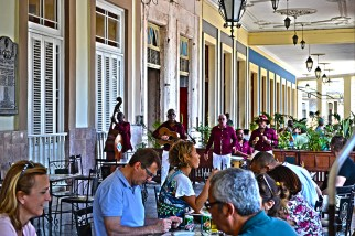 Musicians on the Patio of the Hotel Inglaterra