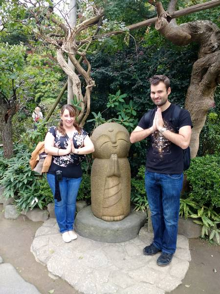 Nick and I with the cute Buddha in Hase Temple
