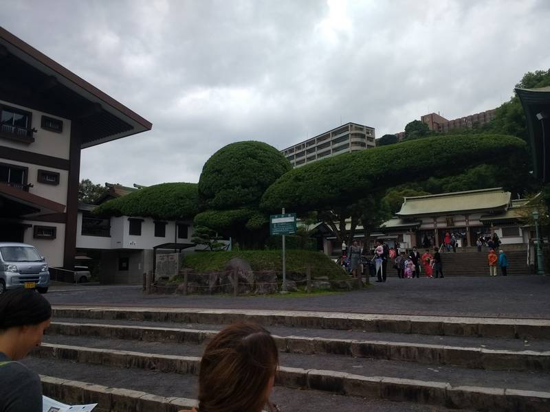 Families in Terukuni Shrine