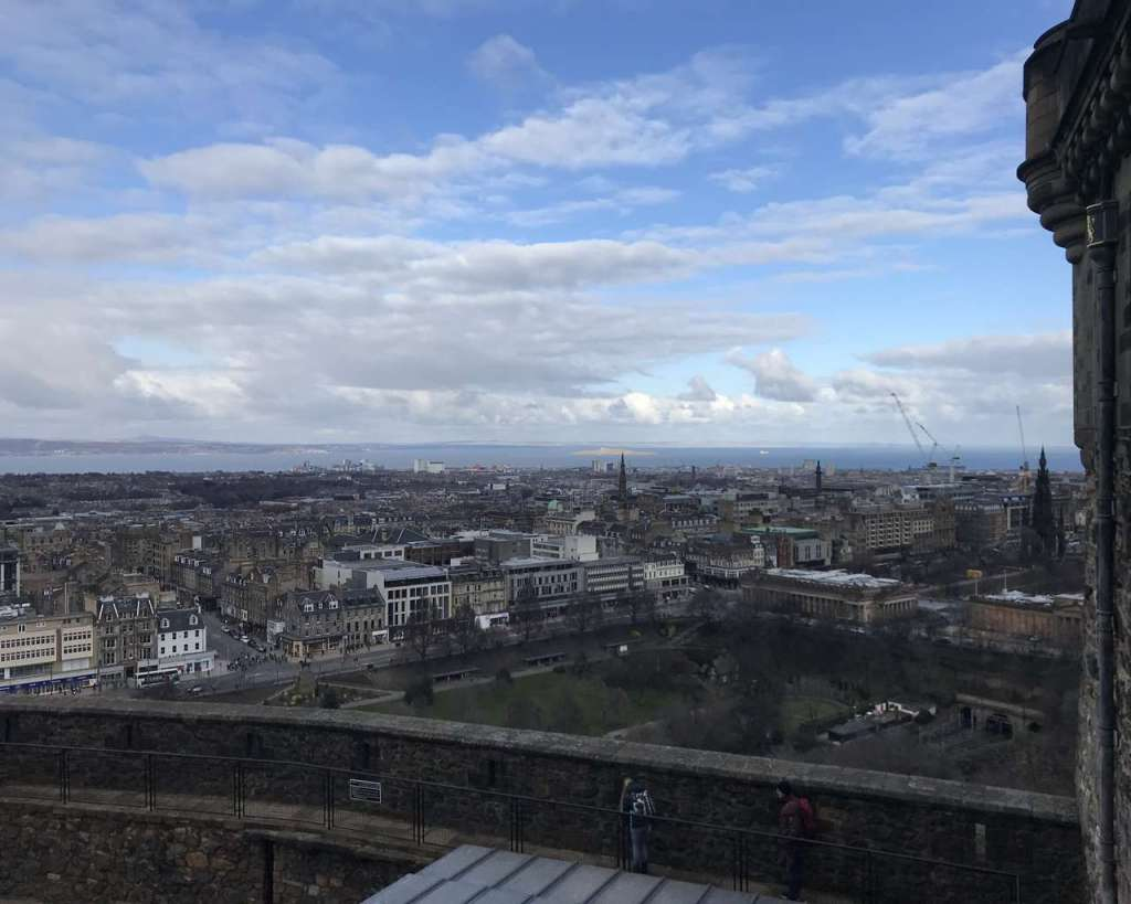 Princes Street view from Castle