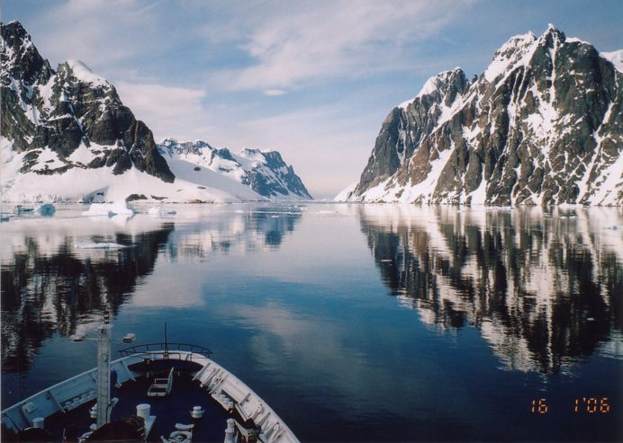 Dream cruises Marco Polo, LeMaire Channel, Antarctica,
