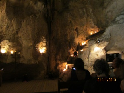 The night of the opera in the caves.