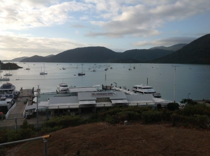 Shute Harbour. We'll be on a boat like those big ones soon.