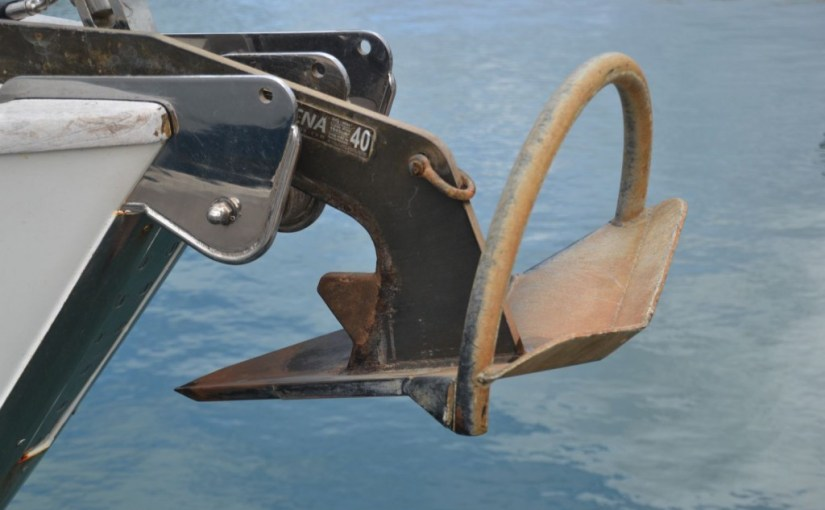 Anchor gear, anchor, chain and winch