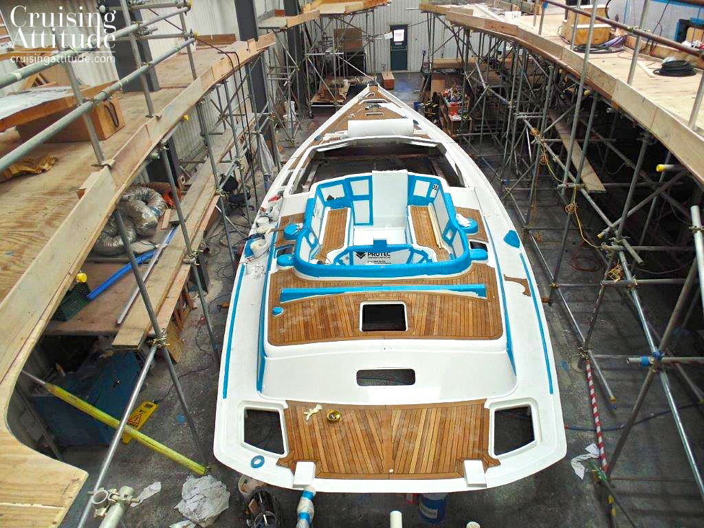 Deck build | Cruising Attitude Sailing Blog - Discovery 55