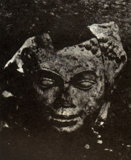 Budha head found in 1922 in Gan