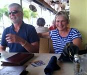 Greg and Corinne, the crew of Gorma