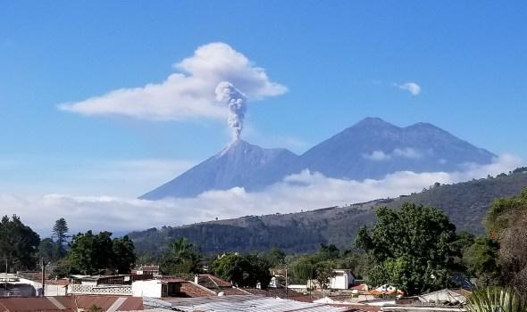 El Fuego from Posada SV rooftop