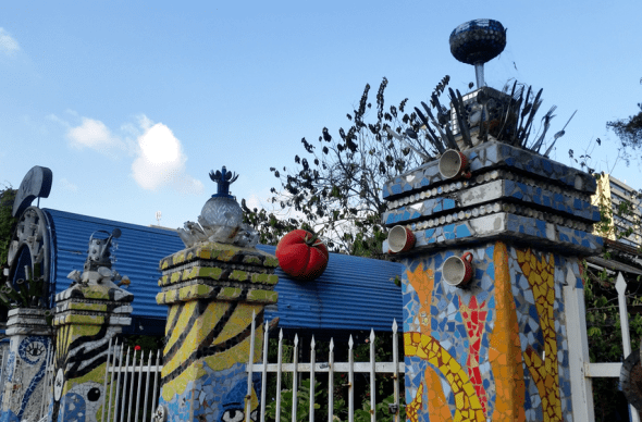 Funky fence in Guatemala City