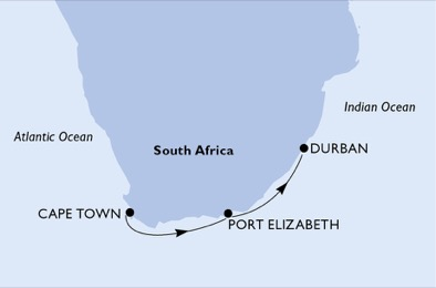 Cape town to port elizabeth and durban cruising south africa - Cape town to port elizabeth itinerary ...