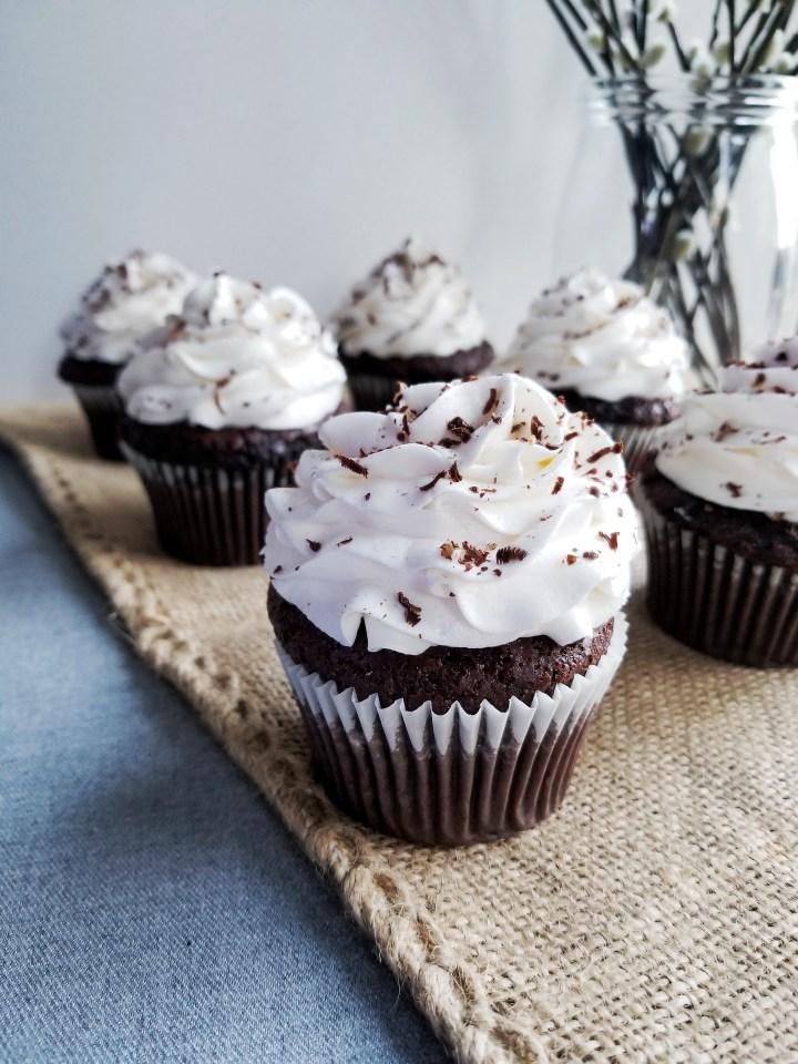 Chocolate Stout Cupcakes with Irish Cream Frosting