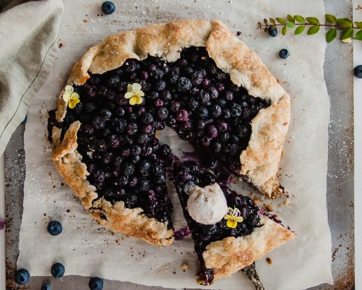 Vegan Blueberry Ginger Galette