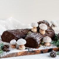 Vegan Chocolate Yule Log