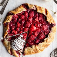 Vegan Strawberry Galette with Hazelnut Chocolate Cream
