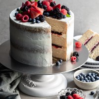 Vegan Berry Vanilla Layer Cake