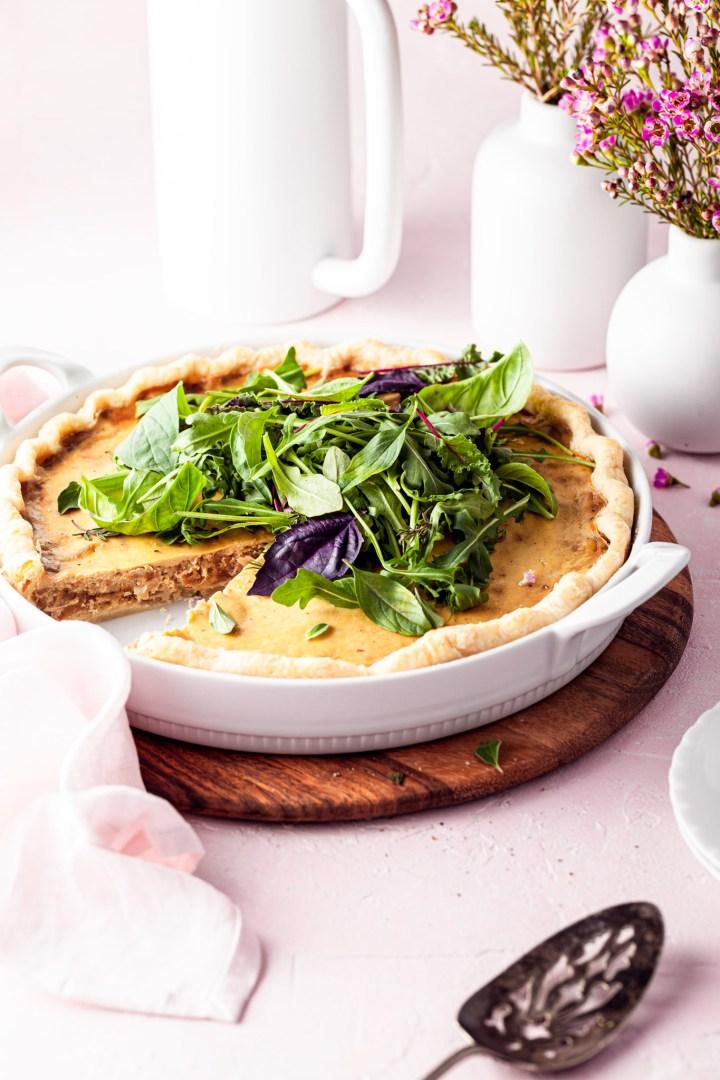 Vegan French Onion Tart