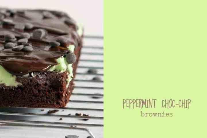 Crumbs and Corkscrews - Mint Choc-Chip Brownies