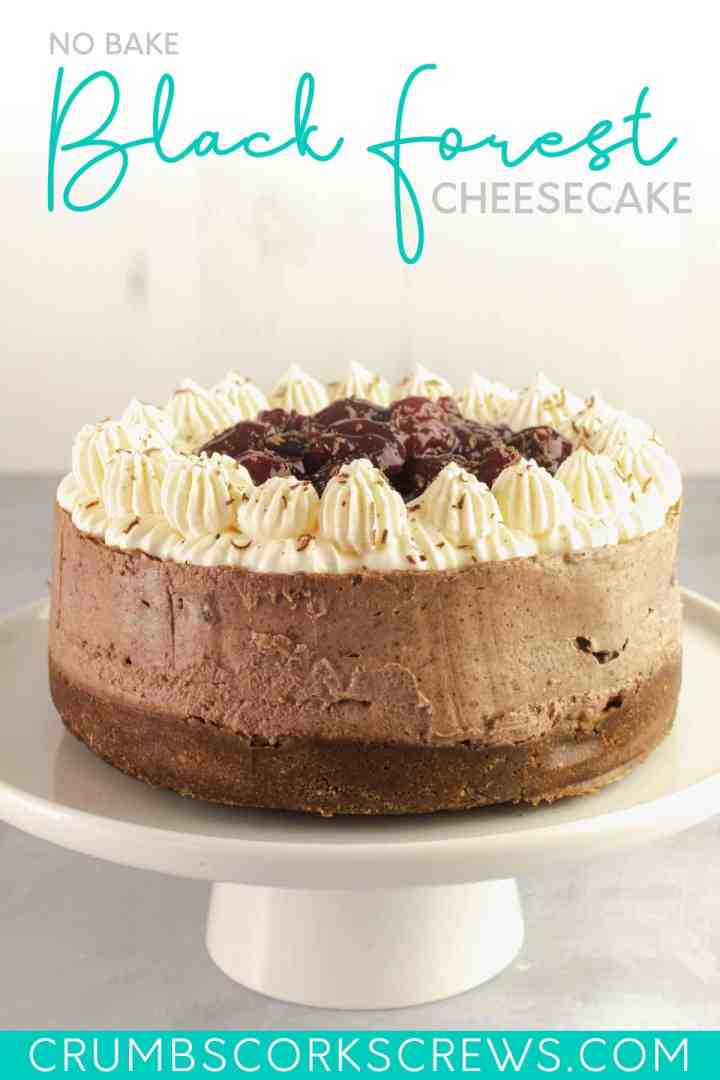 Black Forest Cheesecake - Pinterest Image