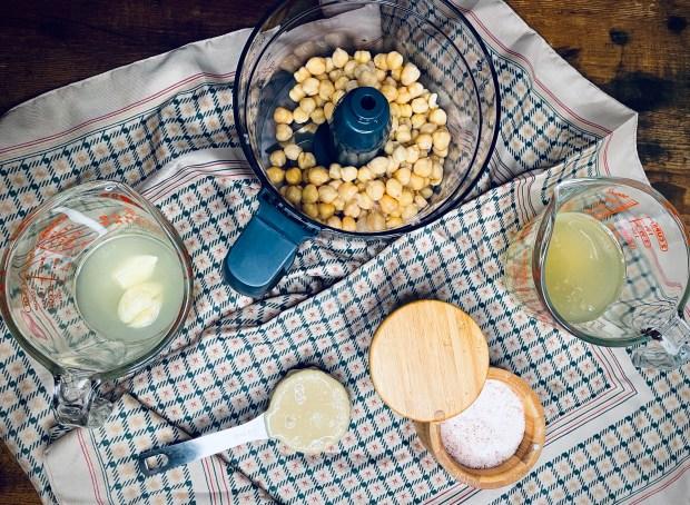 ingredients for aquafaba hummus