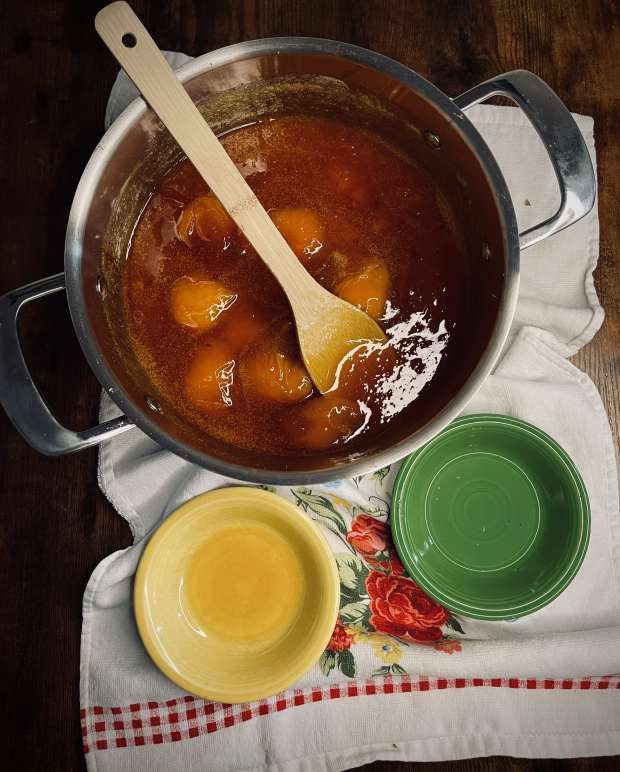fully cooked apricot jam, lemon juice, and amaretto liqueur