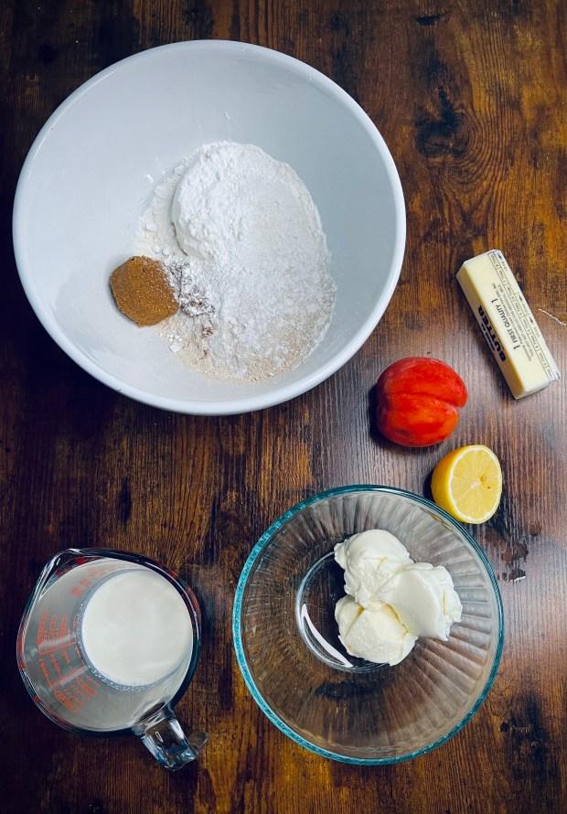 ricotta peach scones ingredients