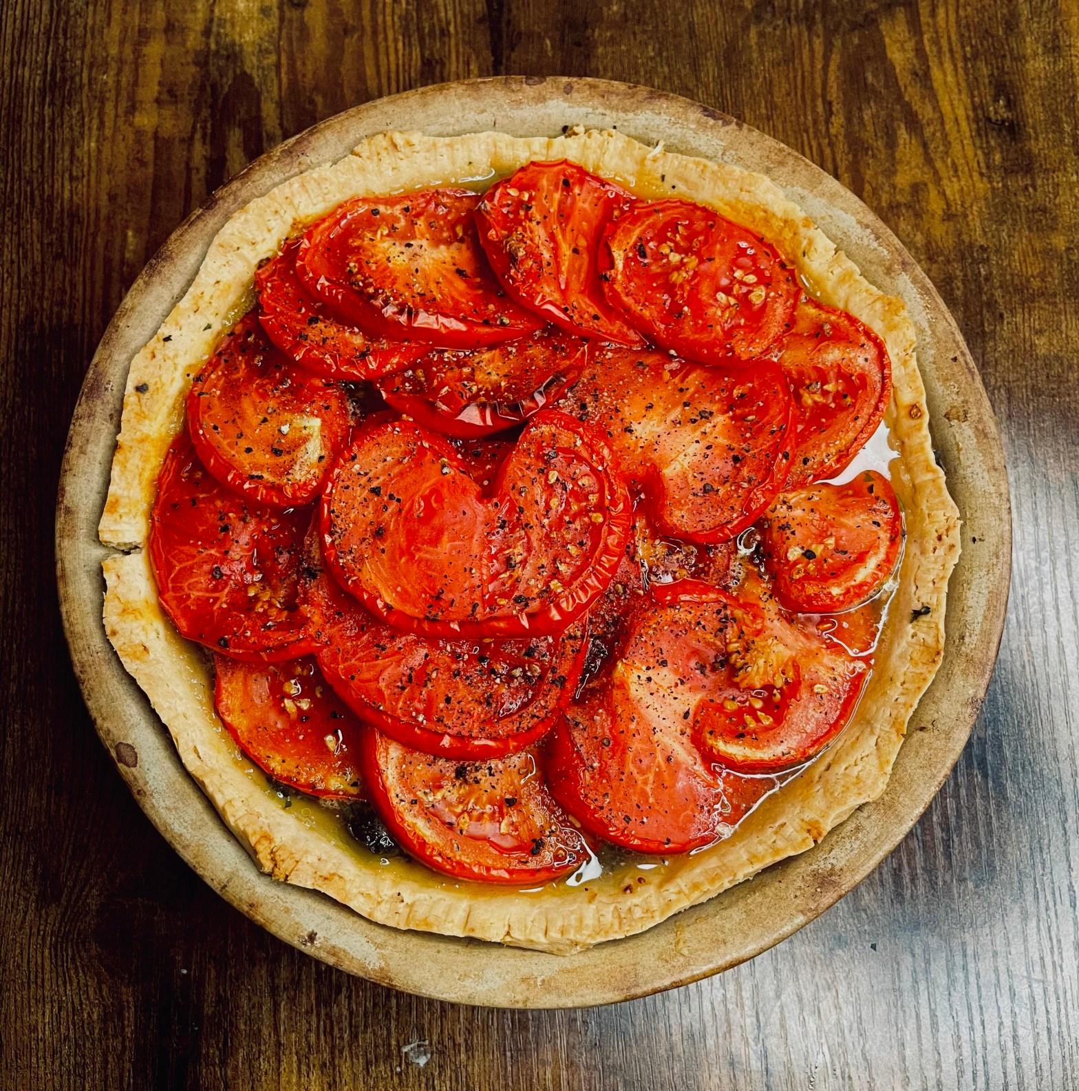 finished tomato tart