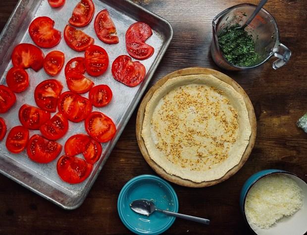 layer 1 tomato tart