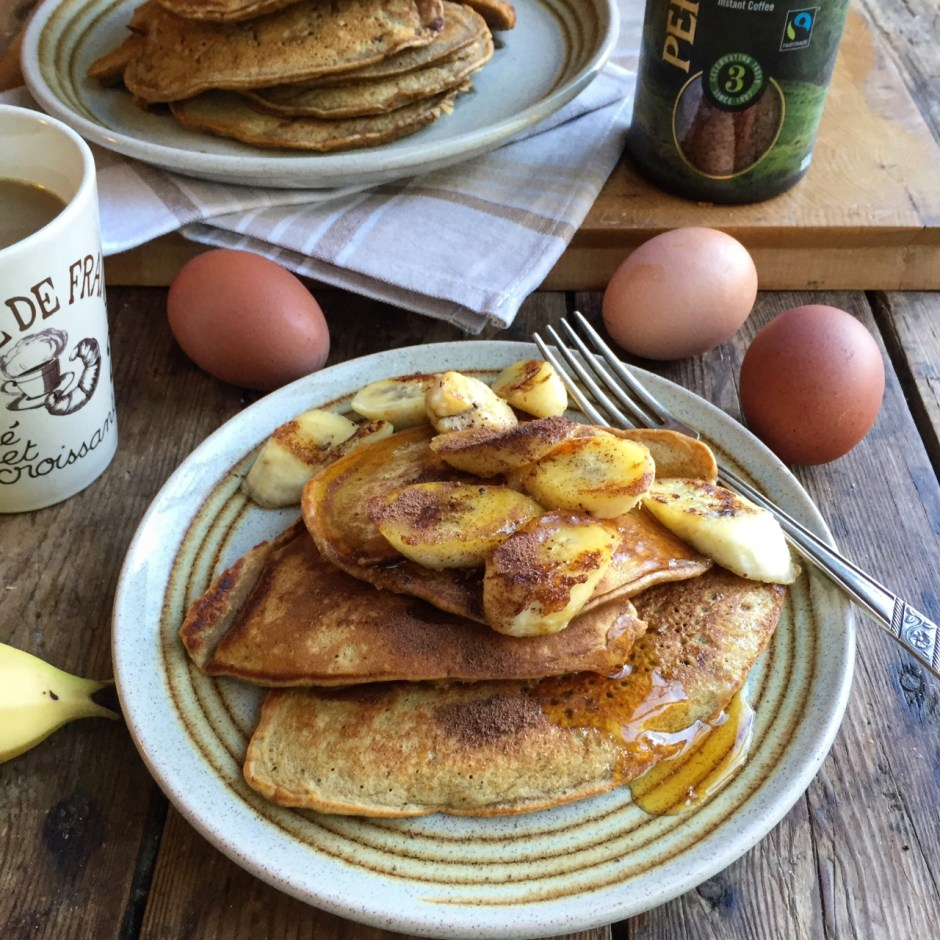 Percol Coffee pancakes with bananas (1)