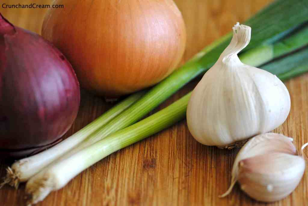 different types of onion and garlic