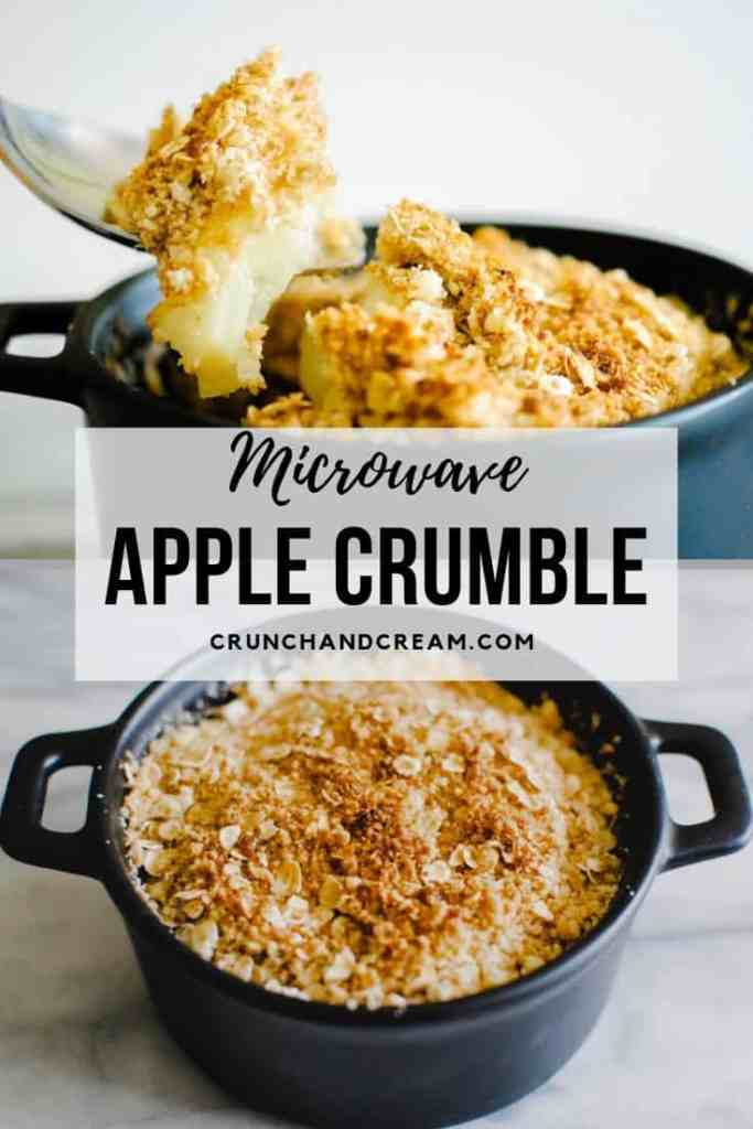 microwave apple crumble for one