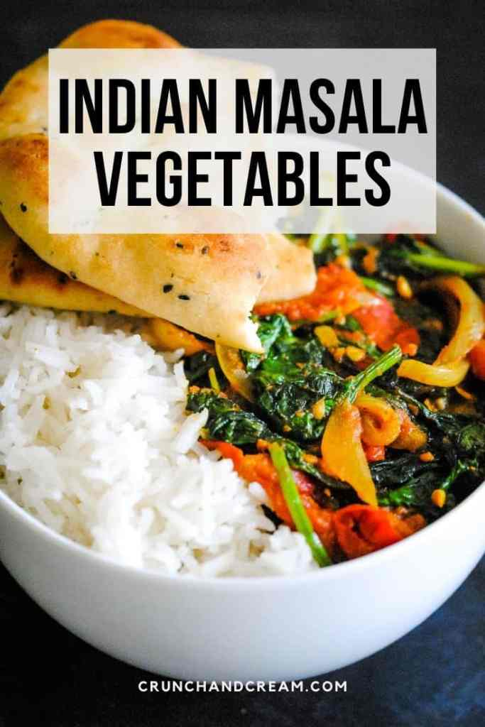 This simple Indian vegan masala curry is the perfect light Indian dinner recipe.