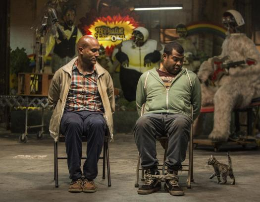 "This image released by Warner Bros. Entertainment shows Keegan-Michael Key, left, and Jordan Peele in a scene from ""Keanu."" (Steve Dietl/Warner Bros. Entertainment via AP)"