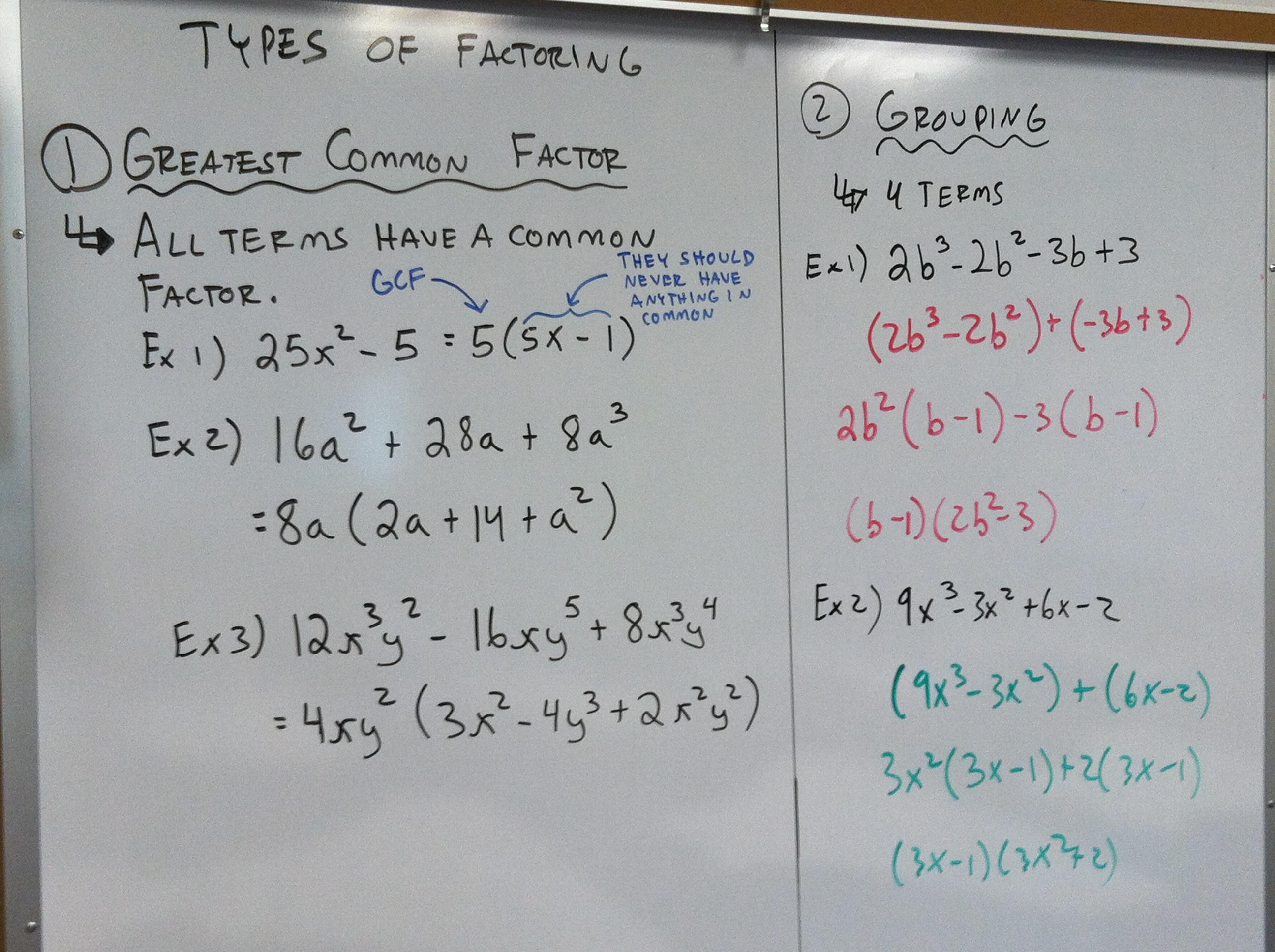 Worksheet Factoring Gcf And Grouping