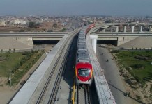 Orange Line Lahore Trial Run