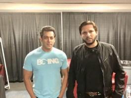 Salman Khan and Shahid Afridi