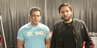 Salman Khan and Shahid Afridi