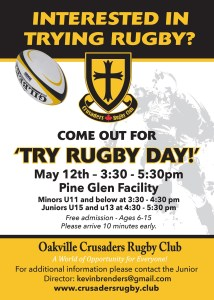 Try Rugby Day @ Pine Glen Facility | Oakville | Ontario | Canada