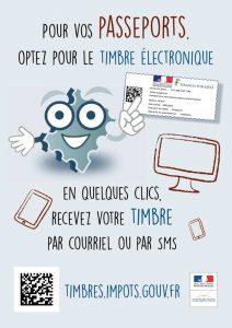 timbre électronique pour papiers d'identité