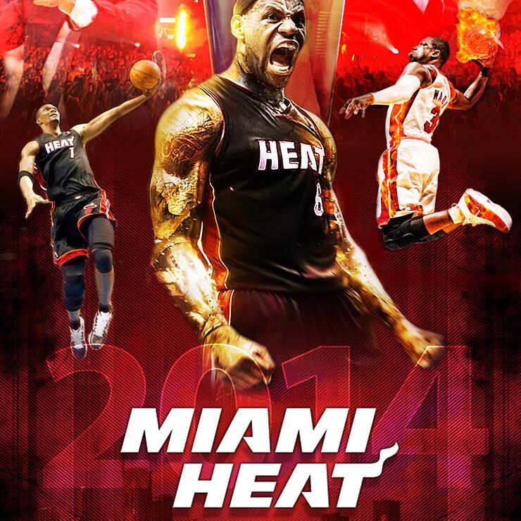 Miami Heat 2013-2014 Poster