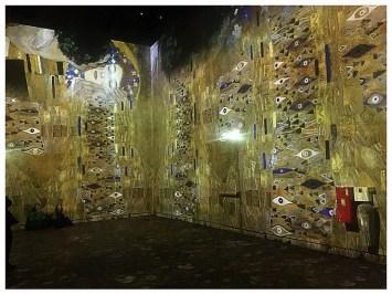 photo personnelle de l'exposition Klimt à l'atelier des lumières