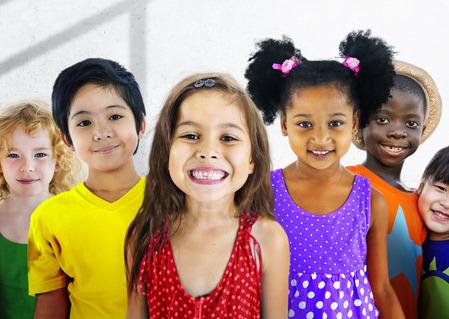 49062389 - diversity children friendship innocence smiling concept